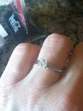 Gretchen's engagement ring