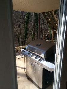 Our new gas grill