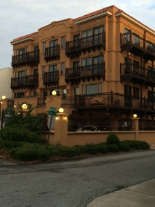 Our hotel on St. Simons Island