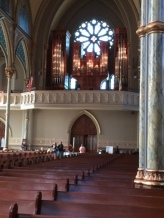 The pipe organ at St. John's