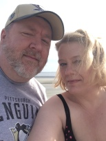 Gretchen and me at the beach
