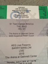 Gretchen's concert tickets