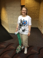 Gretchen in her Who concert t-shirt