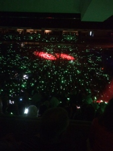 Arena glow sticks