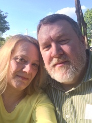 Us, waiting to get into the Barry Manilow concert