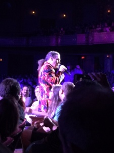 Weird Al going out into the crowd